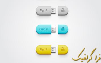 آموزش ایلوستریتور ساخت دکمه ورود USB فلش