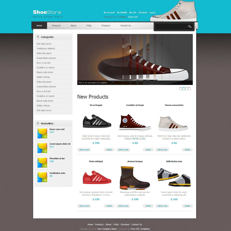 Shoe Store Web Template