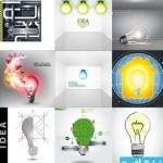bulb creative page 150x150 دانلود وکتور طرح های خلاقانه لامپ برق