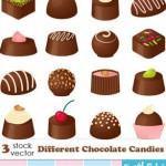 choclate candy cat 150x150 دانلود وکتور های شیرینی شکلاتی