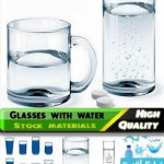glasses with water cat 150x150 دانلود وکتور های لیوان با آب – Glasses with Water