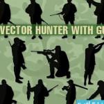 hunter gun cat 150x150 دانلود وکتور های شکارچی با تفنگ