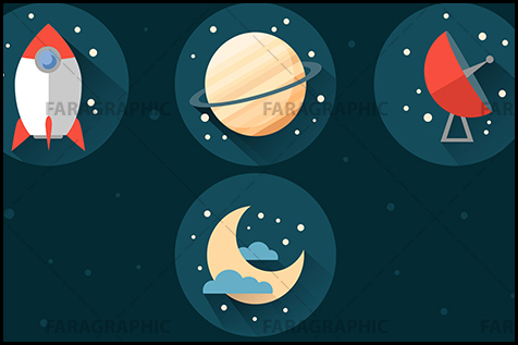space flat icons page آموزش فتوشاپ ساخت آیکون های فضایی بصورت تخت