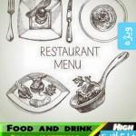 وکتور طرح های ترسیمی غذا و نوشیدنی – شماره 2