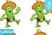 دانلود وکتور های کاکتوس غذای مکزیکی