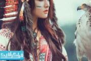 دانلود والپیپر دختر سرخ پوست با عقاب