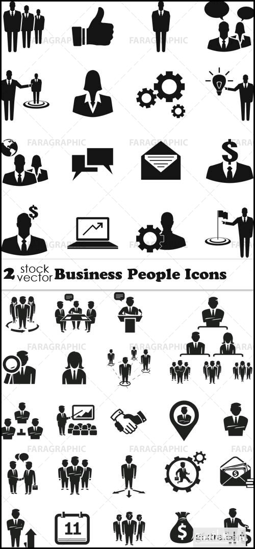 آیکون های افراد در تجارت - شماره 2