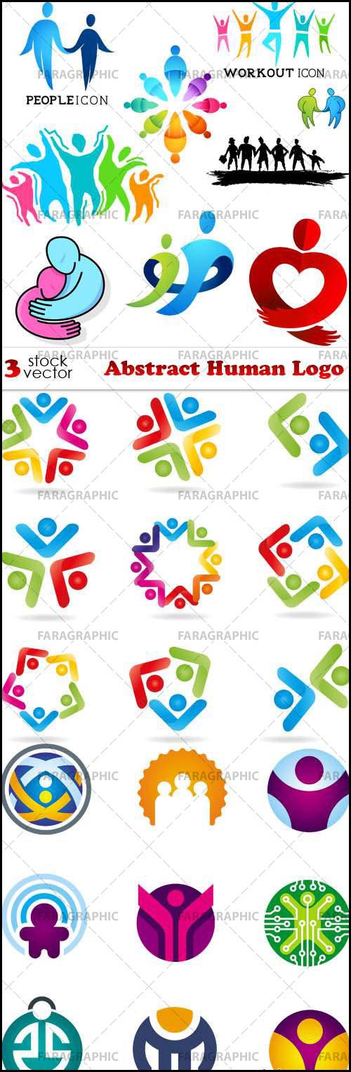دانلود لوگو های انسان - طرح انتزاعی
