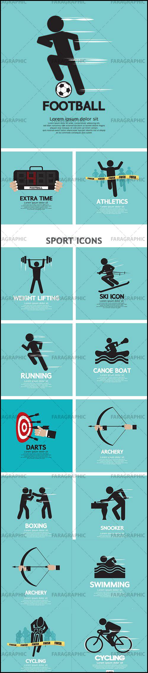 دانلود وکتور نماد رشته های ورزشی