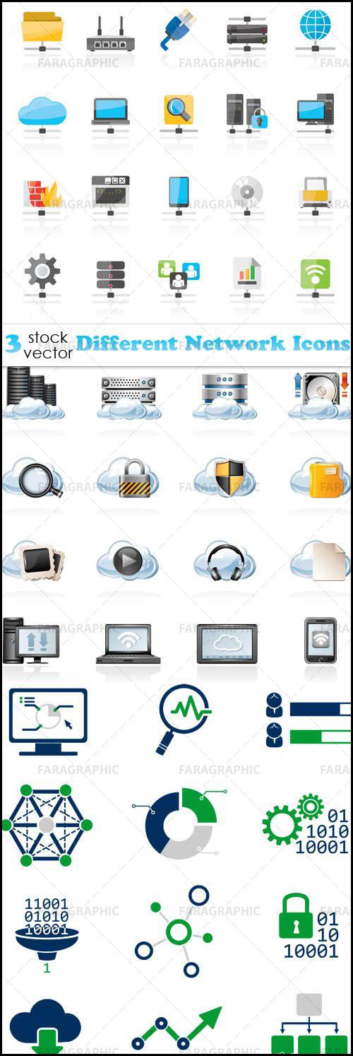 دانلود آیکون های شبکه کامپیوتری