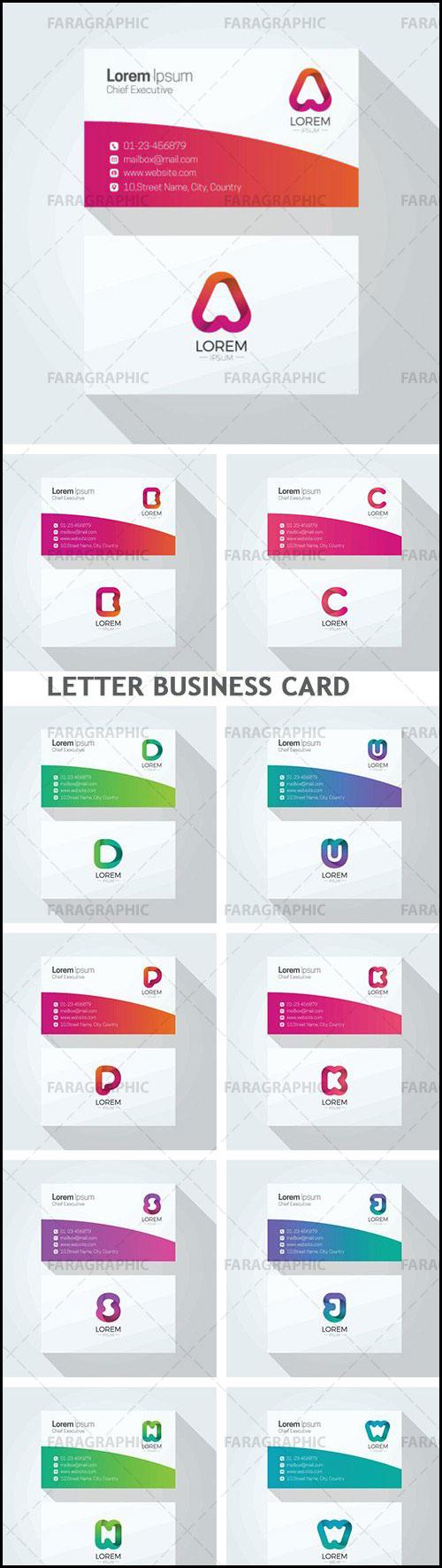 دانلود کارت های ویزیت حروف انگلیسی