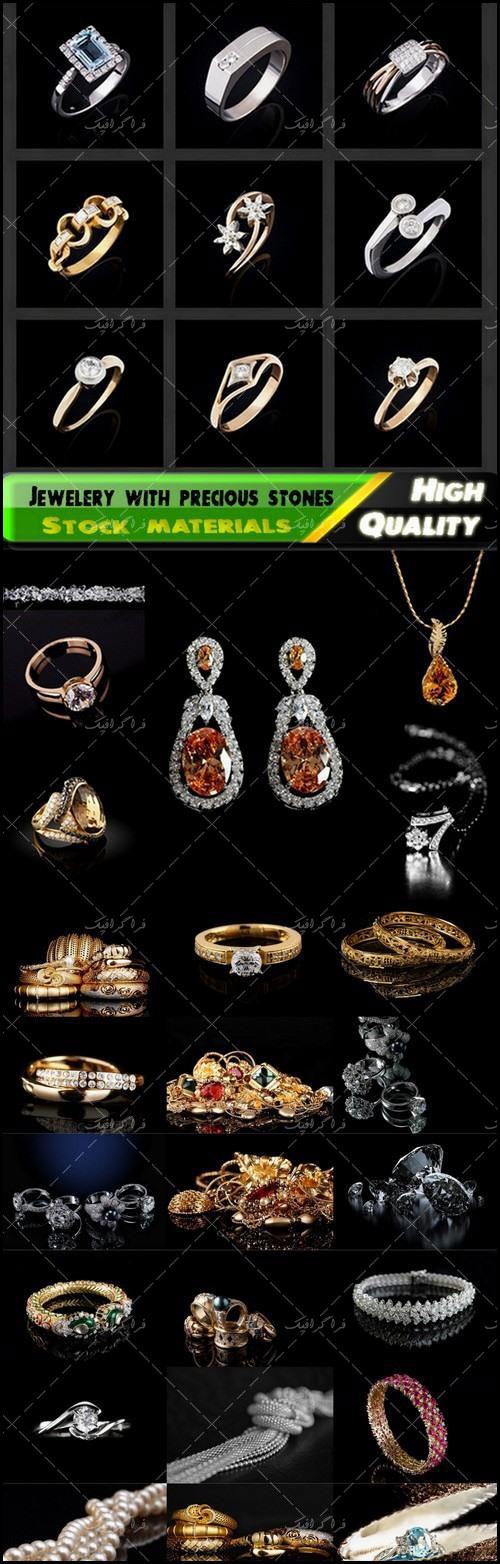 تصاویر استوک جواهرات با سنگ های قیمتی