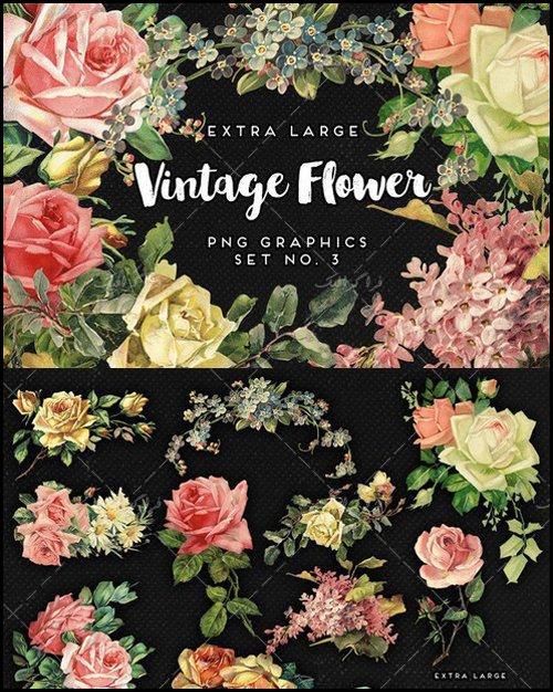 فایل لایه باز تصاویر گل کلاسیک - شماره 3