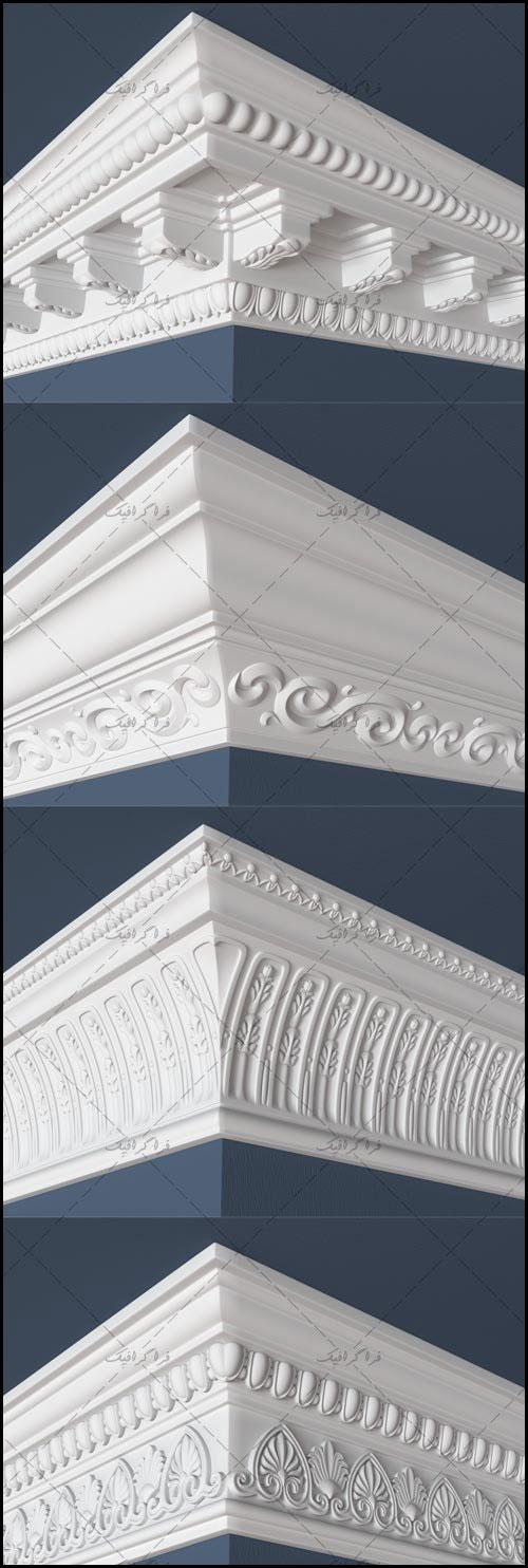 دانلود مدل های سه بعدی آذین سقف و دیوار
