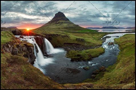 دانلود والپیپر دسکتاپ آبشار در ایسلند