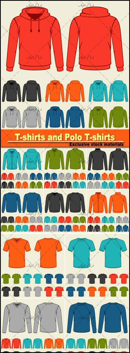 دانلود وکتور قالب های تی شرت - بلوز - سویشرت