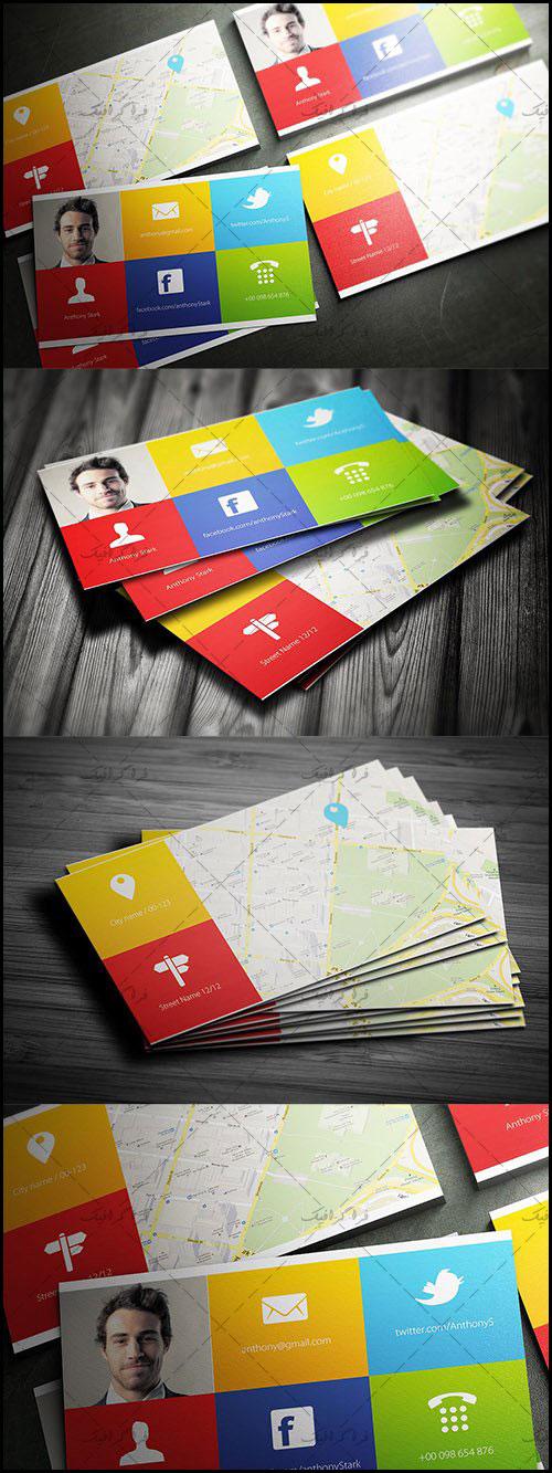 دانلود کارت ویزیت لایه باز فتوشاپ خلاقانه - شماره 66