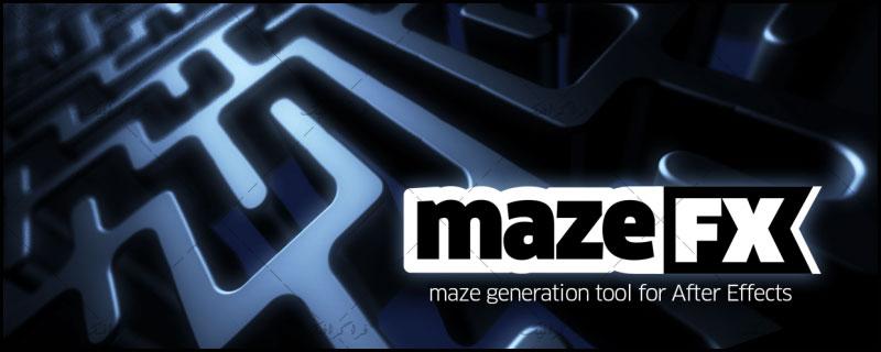 دانلود پلاگین - اسکریپت افتر افکت ساخت مارپیچ - Maze