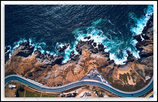 دانلود والپیپر دسکتاپ ساحل اقیانوس کشور شیلی