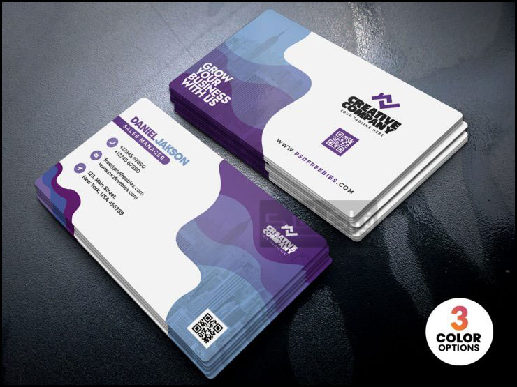 دانلود کارت ویزیت شرکتی لایه باز فتوشاپ - شماره 284