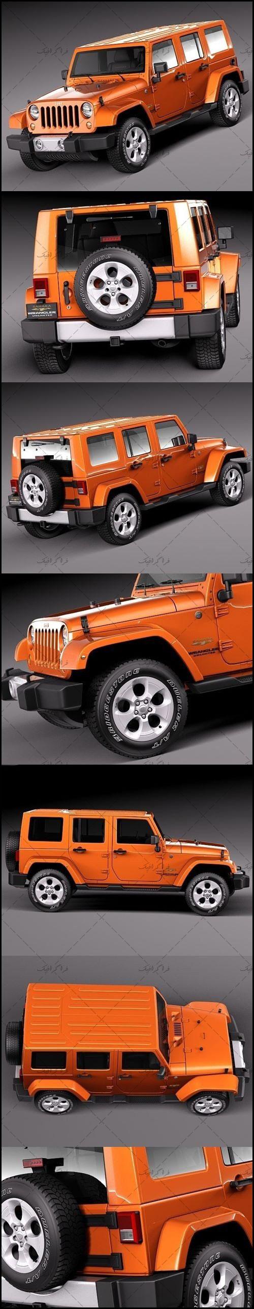 دانلود مدل سه بعدی اتومبیل جیپ Jeep Wrangler Sahara