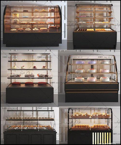 دانلود مدل های سه بعدی قفسه شیشه ای شیرینی فروشی
