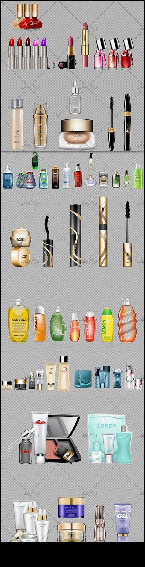 دانلود وکتور محصولات آرایشی و بهداشتی - شماره 2