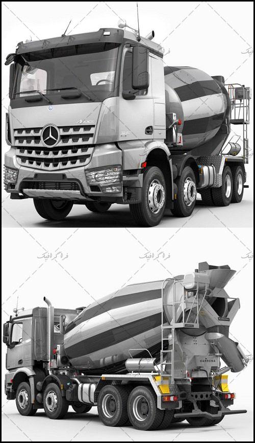 دانلود مدل سه بعدی کامیون بتن ریز بنز
