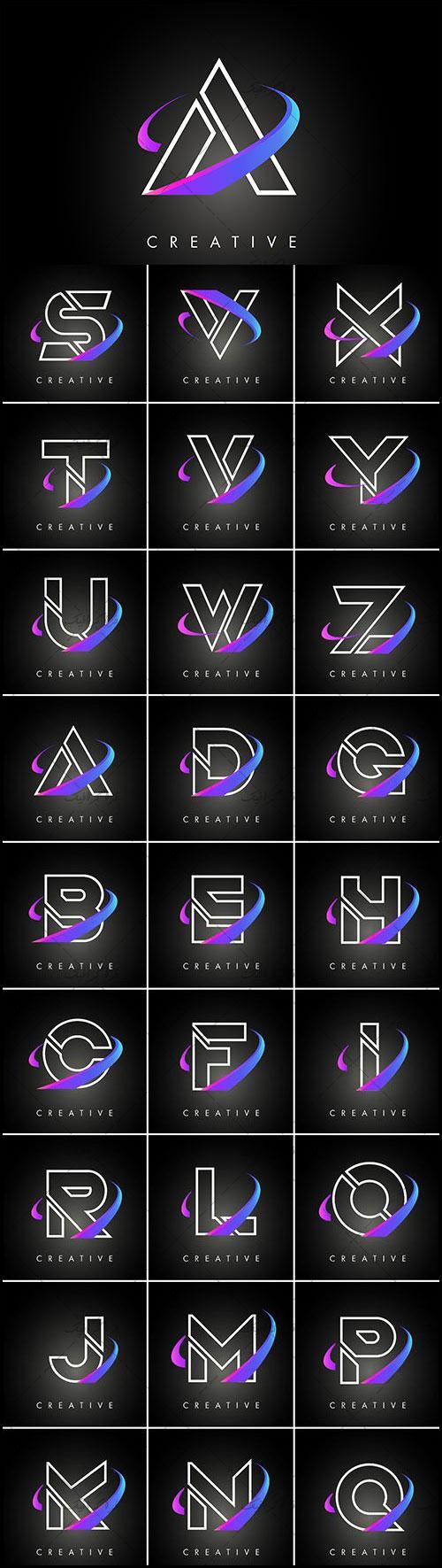 دانلود لوگو های حروف انگلیسی مدرن - رایگان