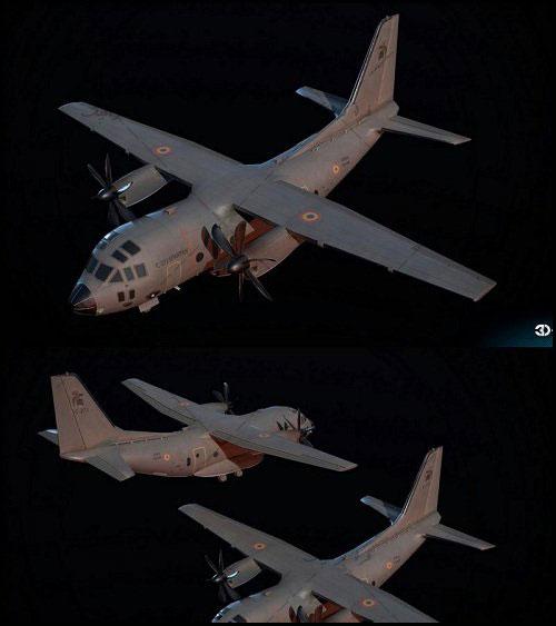 دانلود مدل سه بعدی هواپیمای نظامی Spartan