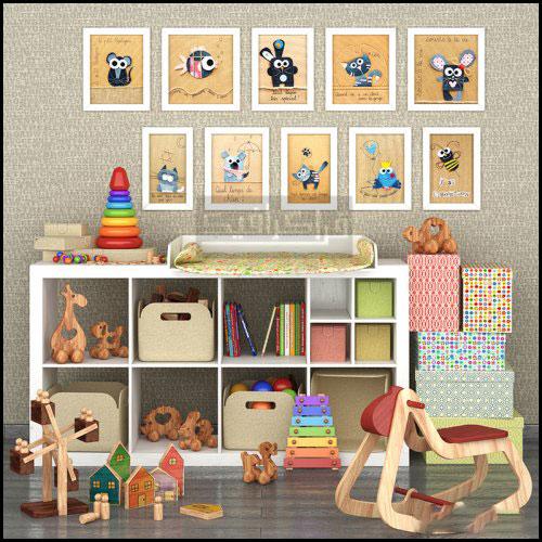 دانلود مدل سه بعدی وسایل اتاق کودکان