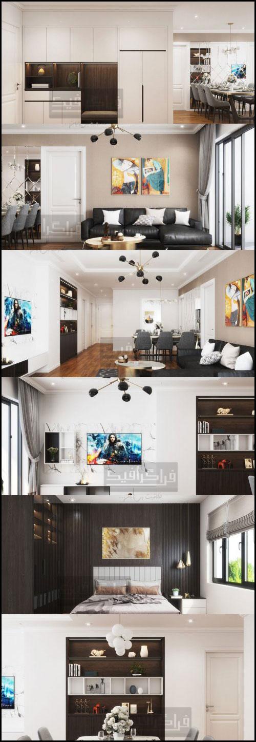 دانلود مدل سه بعدی آپارتمان مدرن - شماره 2