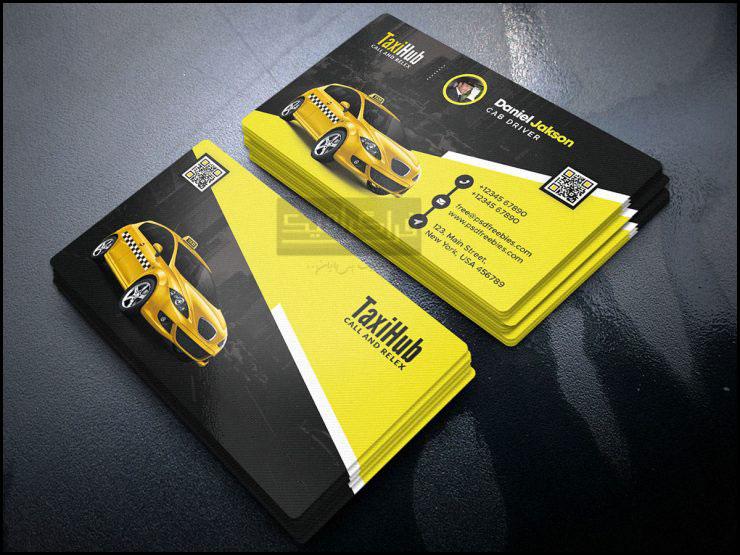 دانلود کارت ویزیت لایه باز فتوشاپ تاکسی سرویس - شماره 2