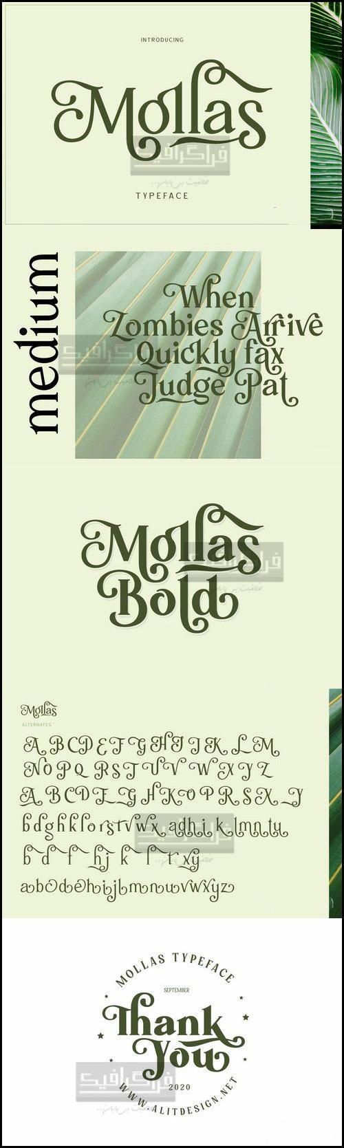 دانلود فونت انگلیسی تزئینی Mollas