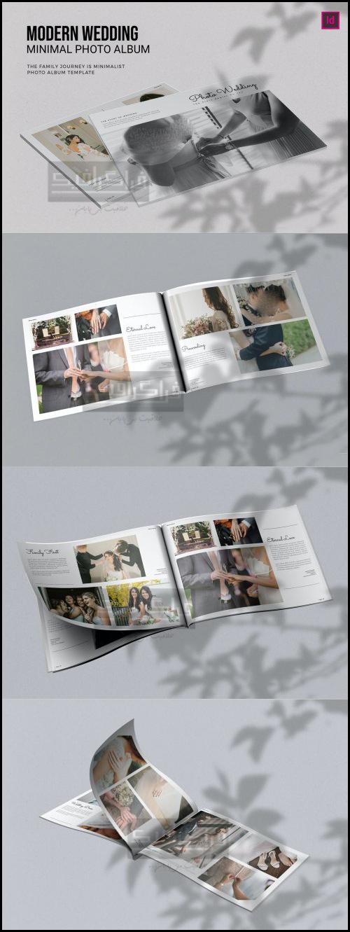 فایل لایه باز ایندیزاین آلبوم عکس عروسی