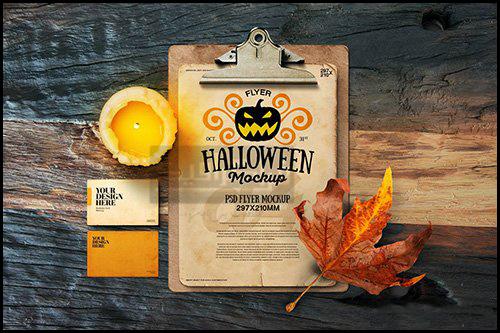 دانلود ماک آپ فتوشاپ پوستر هالووین