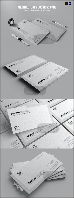 دانلود کارت ویزیت لایه باز شرکت معماری و طراحی