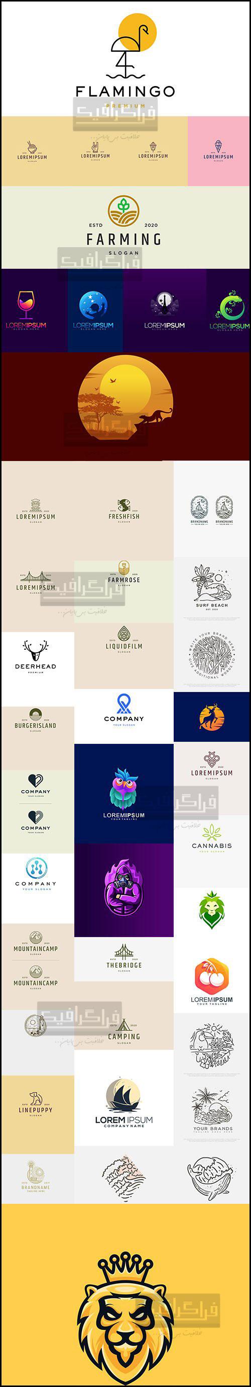دانلود لوگو های مدرن لایه باز وکتور - Modern Logos