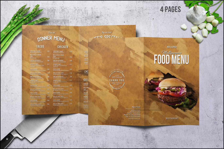 دانلود فایل لایه باز فتوشاپ منوی رستوران - شماره 25