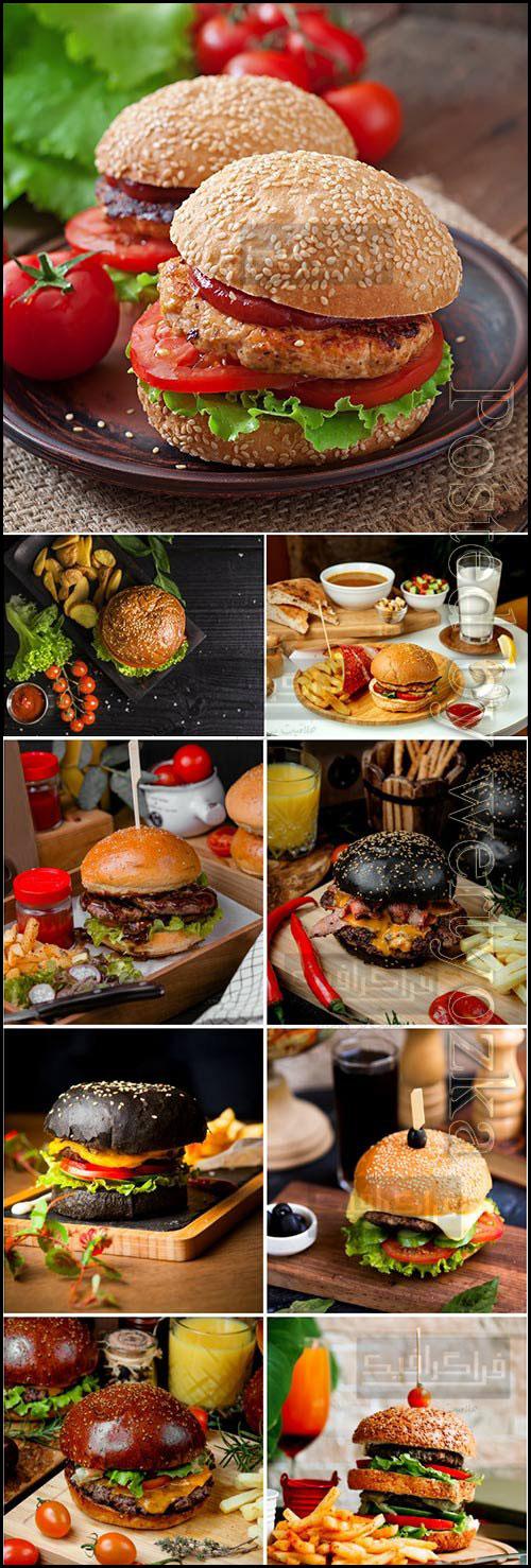 دانلود تصاویر استوک همبرگر و چیزبرگر