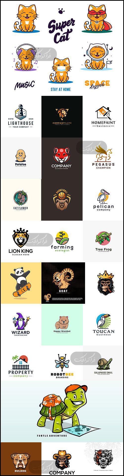 دانلود لوگو های حیوانات - وکتور لایه باز - شماره 6