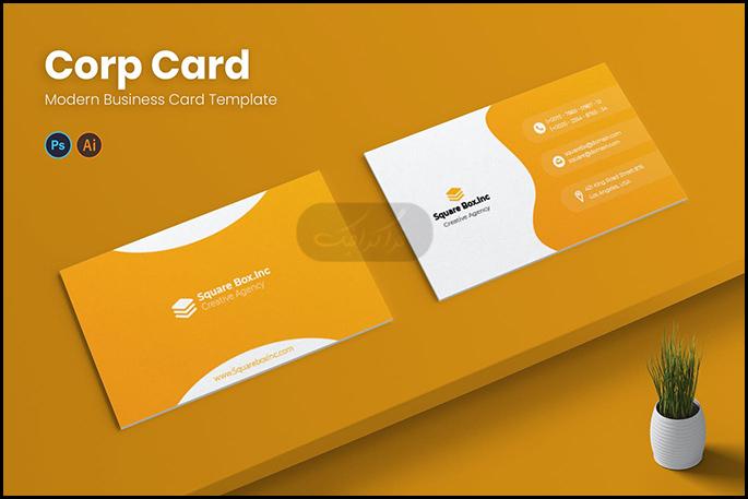 دانلود کارت ویزیت شرکتی لایه باز فتوشاپ - شماره 331