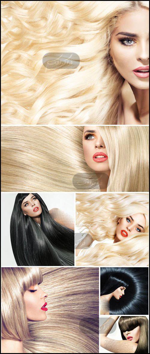 دانلود تصاویر استوک تبلیغاتی زن با مو های بلند