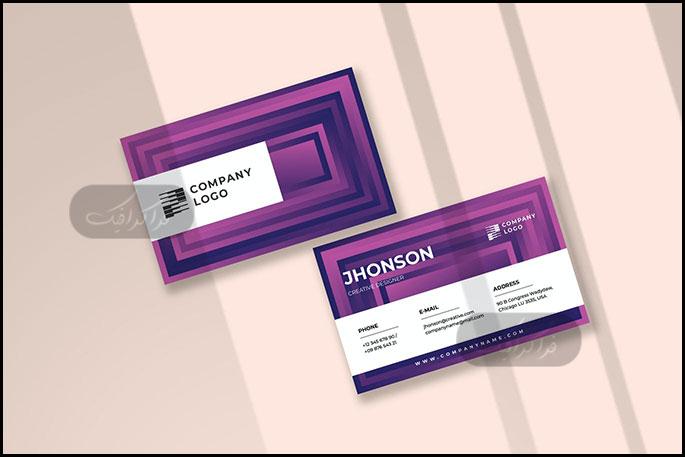دانلود کارت ویزیت شرکتی لایه باز فتوشاپ - شماره 336