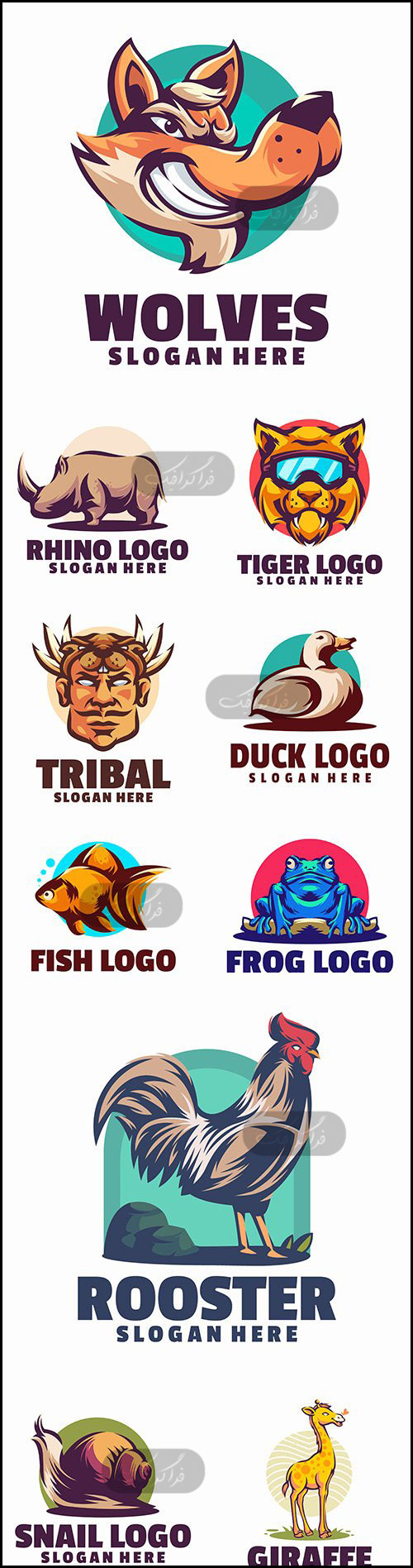 دانلود لوگو های حیوانات - وکتور لایه باز - شماره 7