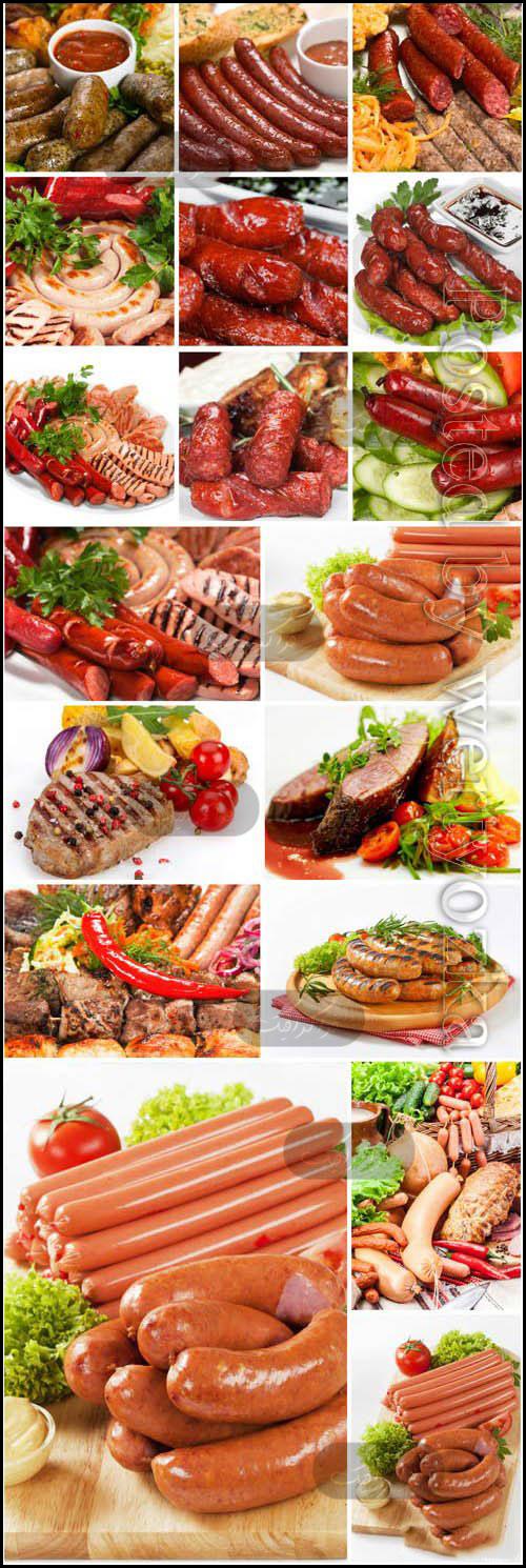 دانلود تصاویر استوک سوسیس و گوشت