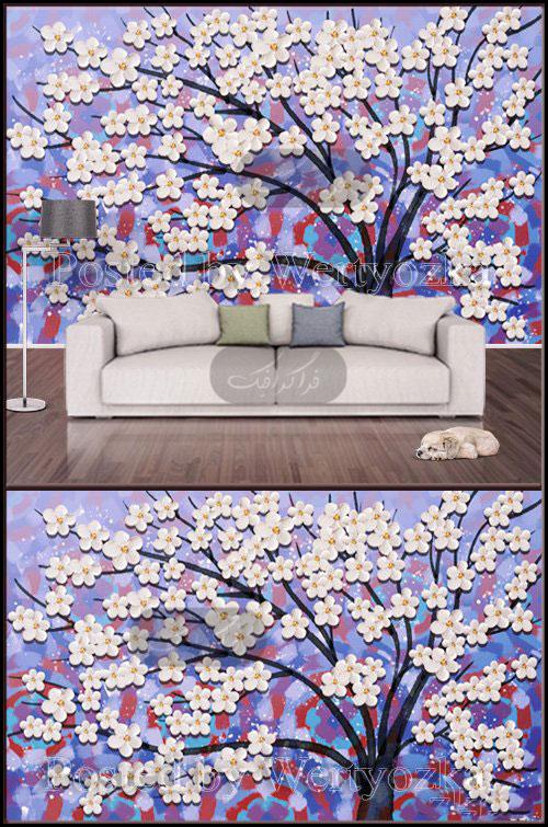 دانلود پوستر سه بعدی شکوفه های درخت