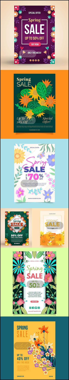 دانلود وکتور پوستر های فصل بهار
