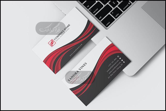 دانلود کارت ویزیت شرکتی لایه باز وکتور - شماره 341