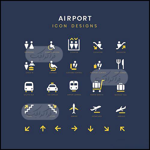 دانلود آیکون های خدمات فرودگاه